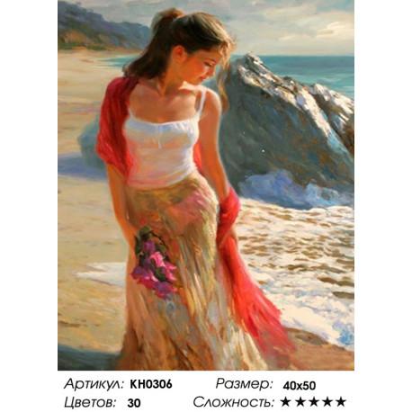Количество цветов и сложность На берегу моря Раскраска по номерам на холсте Molly KH0306