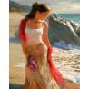 На берегу моря Раскраска по номерам на холсте Molly KH0306