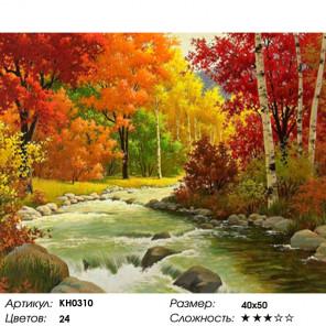 Количество цветов и сложность Золотая осень Раскраска по номерам на холсте Molly KH0310