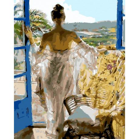 Девушка-грация Раскраска картина по номерам MG7966
