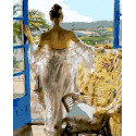 Девушка-грация Раскраска картина по номерам на холсте