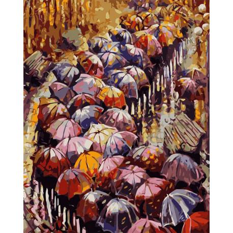 Осенние зонты Раскраска картина по номерам MG2116