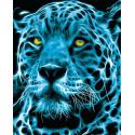 Неоновый ягуар Раскраска картина по номерам MG2117