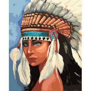 Индейская девушка Раскраска картина по номерам MG2113
