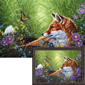 Лис и бабочка AG2323