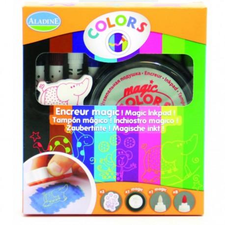 Волшебные фломастеры, меняющие цвет (9 цветов) со штампами (3 шт.)