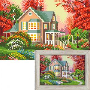 Крупно Осенний домик AG2310