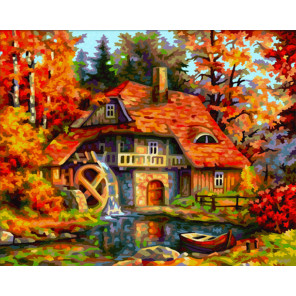 Старая Мельница Раскраска картина по номерам Schipper (Германия)