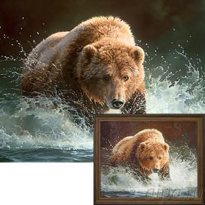 Медведь на рыбалке Ag086