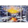 Зимняя сказка Триптих Раскраска по номерам Schipper (Германия)