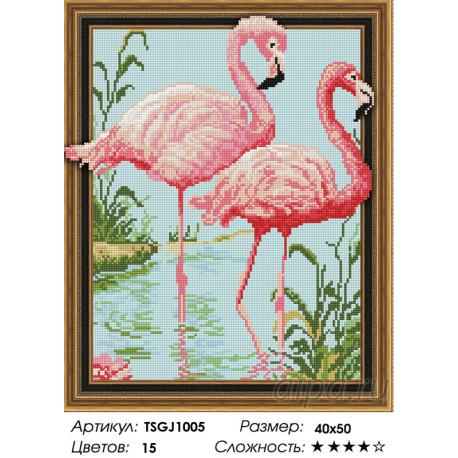 Количество цветов и сложность Фламинго Алмазная вышивка мозаика на подрамнике 3D TSGJ1005