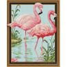 Фламинго Алмазная вышивка мозаика на подрамнике 3D TSGJ1005