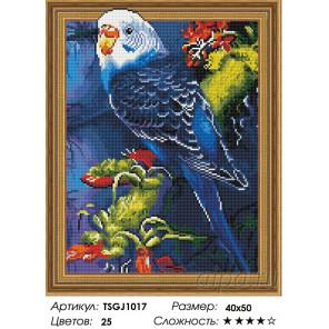 Количество цветов и сложность Попугай на ветке Алмазная вышивка мозаика на подрамнике 3D TSGJ1017