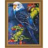 Попугай на ветке Алмазная вышивка мозаика на подрамнике 3D TSGJ1017
