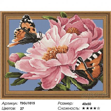 Количество цветов и сложность Бабочки на цветах Алмазная вышивка мозаика на подрамнике 3D TSGJ1015