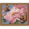 Бабочки на цветах Алмазная вышивка мозаика на подрамнике 3D TSGJ1015