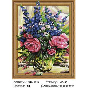 Количество цветов и сложность Букет в вазе Алмазная вышивка мозаика на подрамнике 3D TSGJ1119