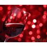 Бокал красного вина Раскраска картина по номерам на холсте PK24097