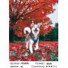 Сложность и количество цветов Прогулка хаски Раскраска картина по номерам на холсте PK24093