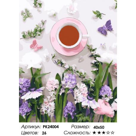 Сложность и количество цветов Нежный завтрак Раскраска картина по номерам на холсте PK24004