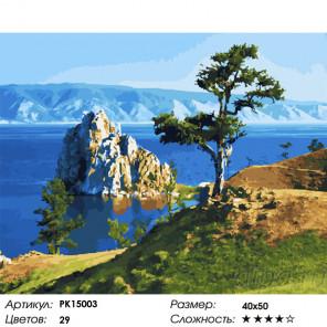 Сложность и количество цветов Одинокий утёс Раскраска картина по номерам на холсте PK15003