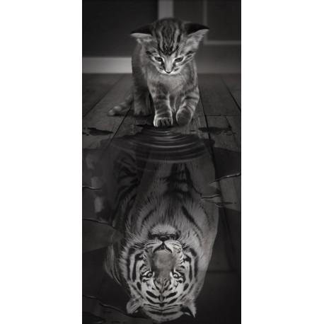 Тигр внутри Алмазная вышивка мозаика АЖ-1771