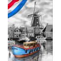 Голландская речка Алмазная вышивка мозаика