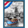 В рамке Голландская речка Алмазная вышивка мозаика АЖ-1749