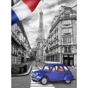Парижская улочка Алмазная вышивка мозаика АЖ-1750
