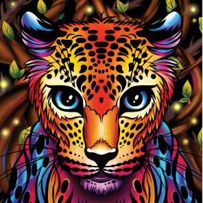 В рамке Радужный леопард Алмазная вышивка мозаика АЖ-1752