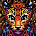 Радужный леопард Алмазная вышивка мозаика АЖ-1752