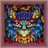 В рамке Радужный кот Алмазная вышивка мозаика АЖ-1753