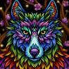 Радужный волк Алмазная вышивка мозаика АЖ-1754