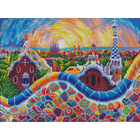 Парк Гуэль Алмазная вышивка мозаика АЖ-1757