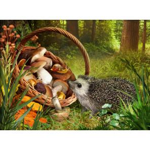 Ёжик в лесу Алмазная вышивка мозаика АЖ-1760