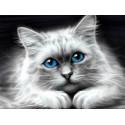 Голубоглазая кошка Алмазная вышивка мозаика