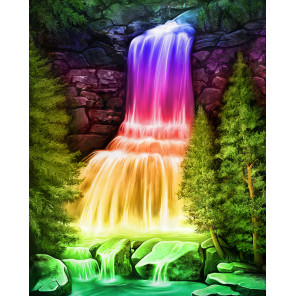 В рамке Радужный водопад Алмазная вышивка мозаика АЖ-1769