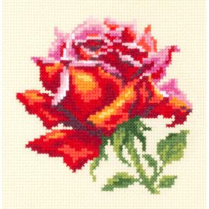 Красная роза Набор для вышивания Чудесная игла 150-003