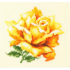 Желтая роза Набор для вышивания Чудесная игла 150-005