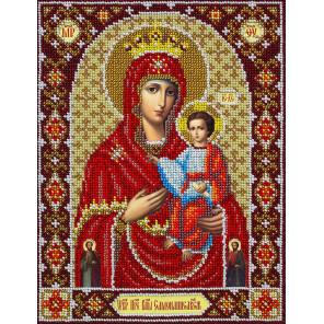 Святая Богородица Самонаписавшаяся Набор для частичной вышивки бисером Паутинка Б-1091