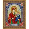 В рамке Святая Богородица Иверская Набор для частичной вышивки бисером Паутинка Б-1093