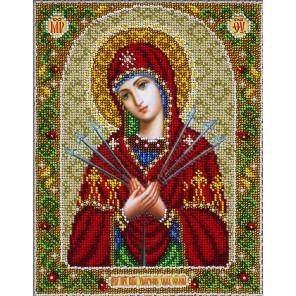 Святая Богородица Умягчение злых сердец Набор для частичной вышивки бисером Паутинка Б-1096