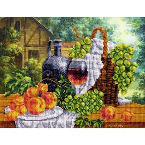 Натюрморт с вином Набор для частичной вышивки бисером Паутинка Б-1270