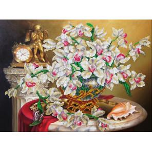 Орхидеи Набор для частичной вышивки бисером Паутинка Б-1271