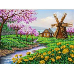 В рамке В краю весны Набор для частичной вышивки бисером Паутинка Б-1438