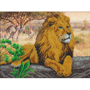 Царь зверей Набор для частичной вышивки бисером Паутинка Б-1470