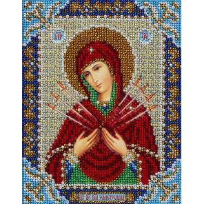 Богородица Семистрельная Набор для частичной вышивки бисером Паутинка Б-716