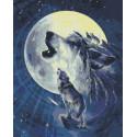 Лунные волки Алмазная мозаика вышивка Паутинка М-355