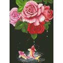 Карпы и розы Алмазная мозаика вышивка Паутинка М-356