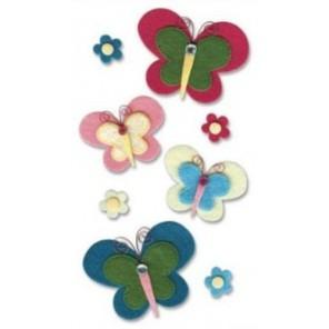 Игривые бабочки Стикеры объёмные для скрапбукинга, кардмейкинга EK Success